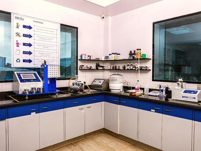 Quality lab Bharat Rubber Vasai